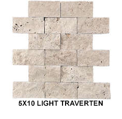 5X10 LIGHT TRAVERTEN