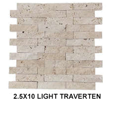 2,5X10 LIGHT TRAVERTEN