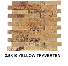 2,5X10 YELLOW TRAVERTEN