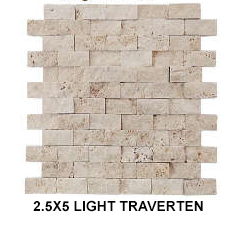 2,5X5 LIGHT TRAVERTEN