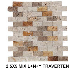 2,5X5 MIX LNY TRAVERTEN
