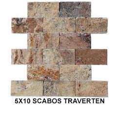 5X10 SCABOS TRAVERTEN