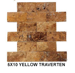 5X10 YELLOW TRAVERTEN